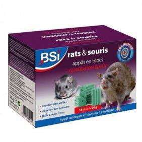Appâts en blocs contre les souris et les rats - BSI