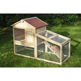 Abri en bois avec enclos pour 2-3 rongeur Freetime