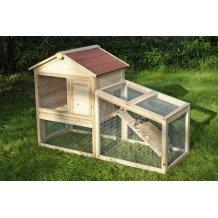 Clapier en bois avec enclos pour 2-3 rongeurs Freetime