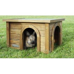 Maison en bois pour lapins