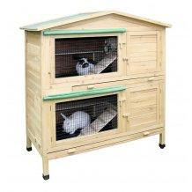 Abri extérieur en bois pour lapins