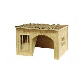 Maisonnette de jeu et repos en bois pour hamster, cobaye et lapin