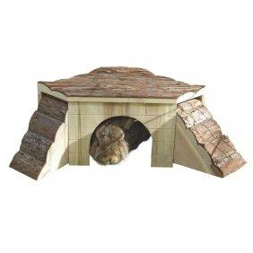 Maisonnette de jeu et repos en bois pour rongeurs