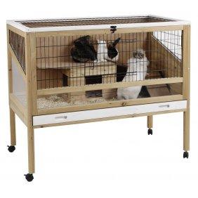 Cage intérieure en bois pour lapins