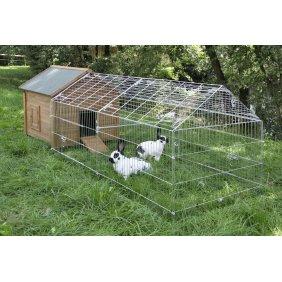 Pack clapier Norvège abri et enclos pour lapins