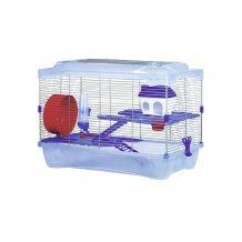Cage pour hamsters en plastique bleu