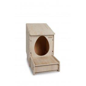 Pondoir à peindre en bois une place avec bac récupérateur d'œufs