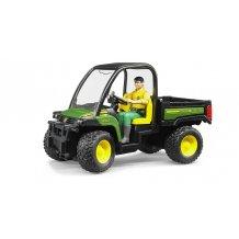 Gator 855D jouet Bruder John Deere vert et jaune 02490 avec chauffeur