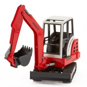 Mini pelle Schaeff HR 16 rouge jouet Bruder 02432