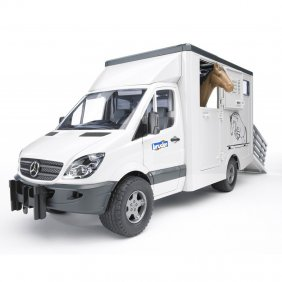 Camion Mercedes Sprinter transport cheval jouet Bruder 0253