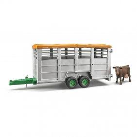 Remorque bétaillère avec vache jouet Bruder 02227