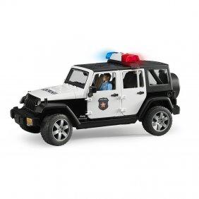 Jeep de police Wrangler Unlimited avec policier jouet Bruder 02526
