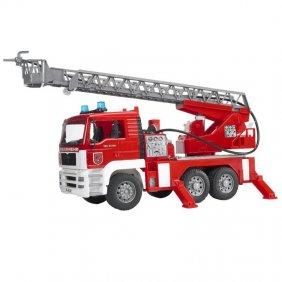 Camion de pompier MAN avec échelle et lance incendie jouet Bruder 02771
