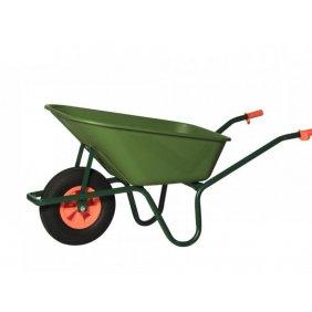 Brouette de jardin 1 roue avec bac plastique épaisseur 4 mm capacité 100 litres