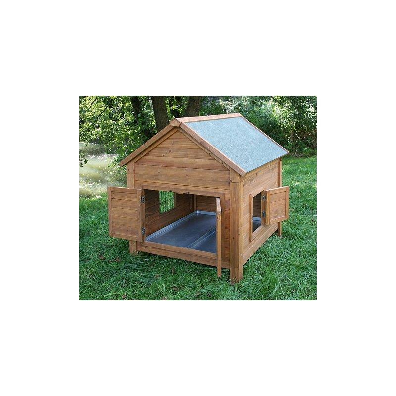 poulailler en bois syracuse kerbl pour 6 poules tr s facile pour le nettoyage. Black Bedroom Furniture Sets. Home Design Ideas