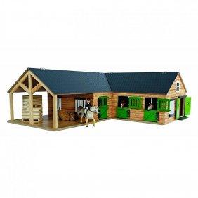 Ecurie avec boxes pour chevaux jouet Kids Globe Farming