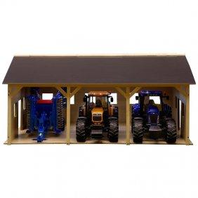 Hangar en bois pour 3 tracteurs jouet Bruder 178287