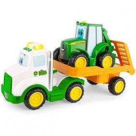 Ensemble de transport jouet 1er âge tracteur et camion