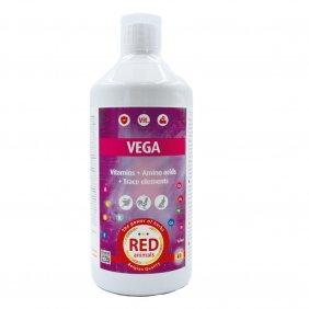 Complément alimentaire pour poules et lapins - cure de 37 vitamines Vega Red Animals 500 ml
