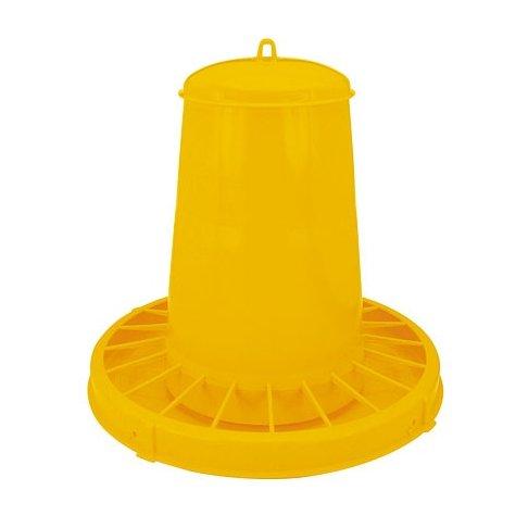 Nourrisseur à trémie en plastique jaune
