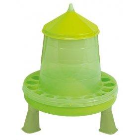 Nourrisseur à trémie sur pieds en plastique vert