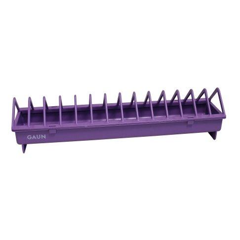 Mangeoire linéaire en plastique pour 5 à 8 poules - violet