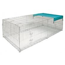 Enclos extérieur pour poules et lapins
