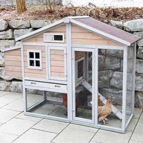 Petit poulailler 2 à 3 poules avec parcours extérieur intégré (Bonny Kerbl)