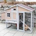 Petit poulailler mobile pour 4 poules avec parcours extérieur intégré (Bonny Kerbl)