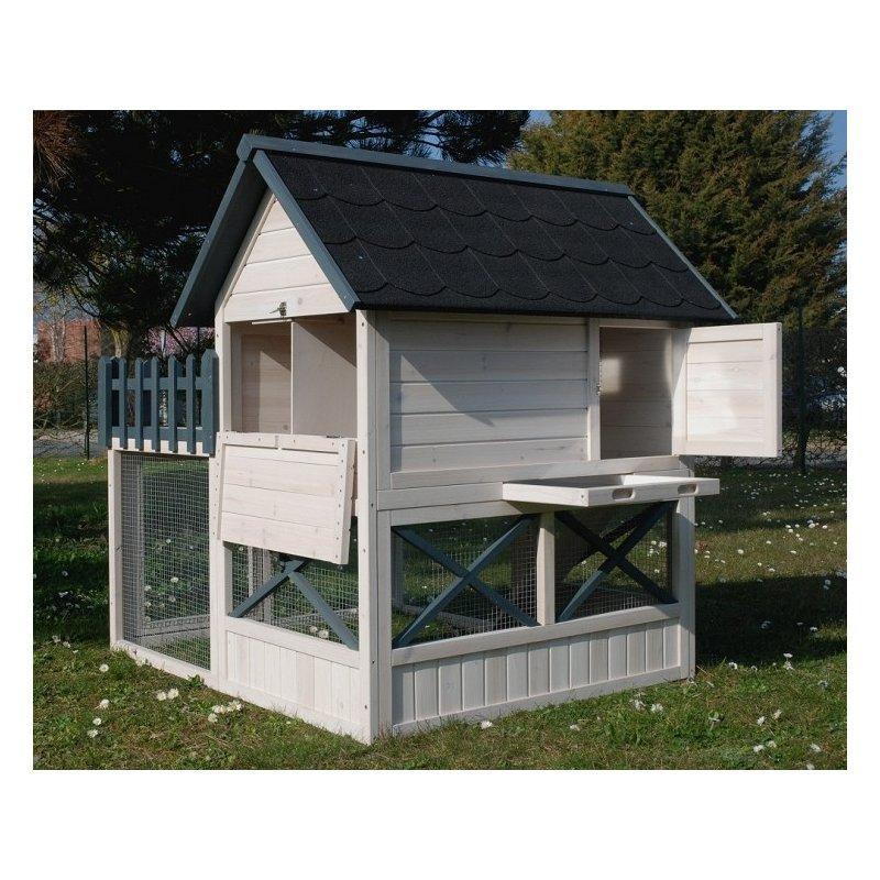 Poulailler Oregon Avec Enclos Et Terrasse Pour 3 A 4 Poules