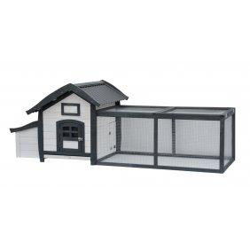 Poulailler Alice avec enclos et toit en PVC pour 2-3 poules