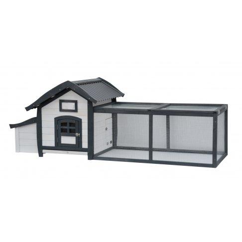 Poulailler Alive avec enclos et toit en PVC pour 2-3 poules