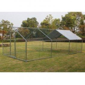 Grand enclos pour poules et autres volailles de 12 m²