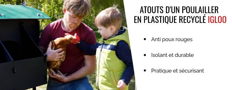 Poulailler en plastique recyclé - Igloo